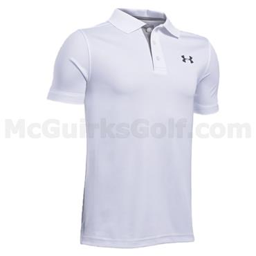 Under Armour Junior - Boys Performance Polo Shirt White - True Grey