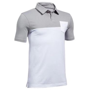 Under Armour Junior - Boys Cotton Blocked Polo Shirt White