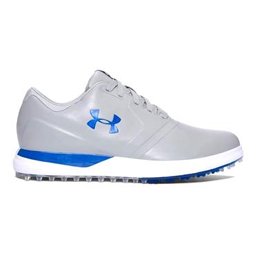 f1649b43b ... Under Armour Gents Performance Spikeless Golf Shoes Steel - Blue Marker