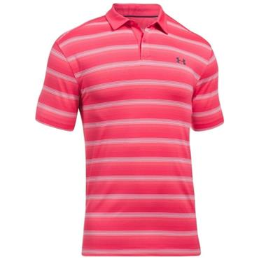Under Armour Gents Coolswitch Stripe Bermuda Polo Shirt Hollywood