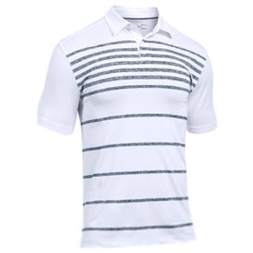 Under Armour CoolSwitch Brassie Stripe Polo Shirt White