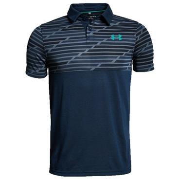 Under Armour Junior-Boys Threadborne Blocked Polo Shirt Academy