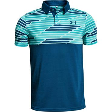 Under Armour Junior - Boys Threadborne Blocked Polo Shirt Teal