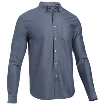 Under Armour Gents Performance Fall Oxford Polo Shirt Navy