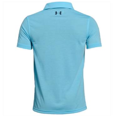 Under Armour Junior - Boys Threadborne Polo Shirt Light Blue