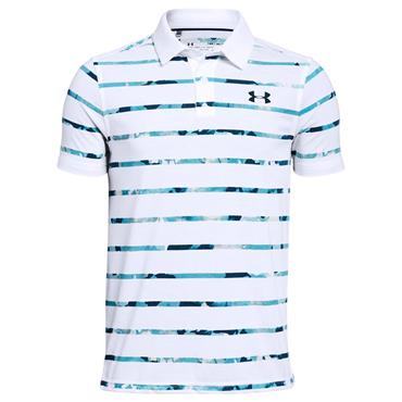 Under Armour Junior - Boys Threadborne Polo Shirt White 102