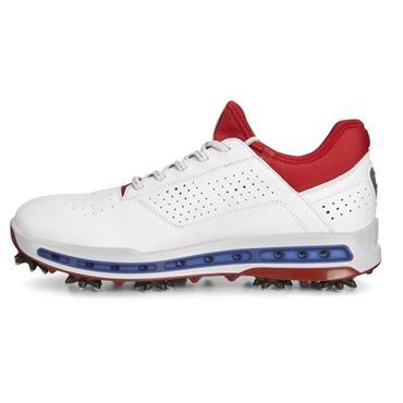 Ecco Gents Cool SURROUND GORE-TEX Golf Shoes White - Tomato