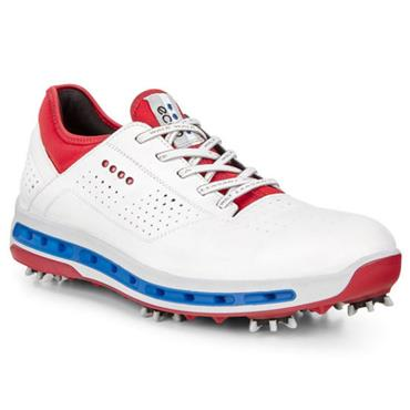 Ecco Gents Cool SURROUND GORE-TEX Golf Shoes White - Tomato