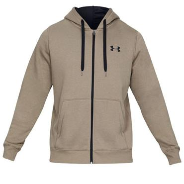 Under Armour Gents Rival Fitted Full Zip Hoodie Brown