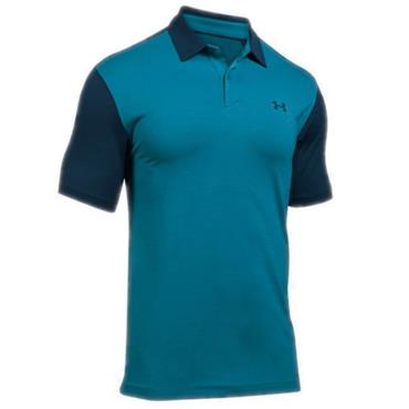 Under Armour Gents Threadborne Polo Shirt Bayou Blue