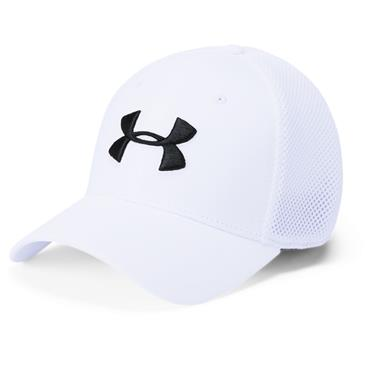 Under Armour Gents Microthread Mesh Cap White 100