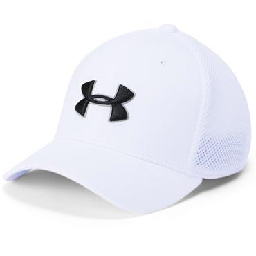Under Armour Junior Microthread Golf Mesh Cap White