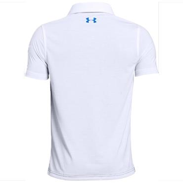 Under Armour Junior - Boys Engineered Polo Shirt White