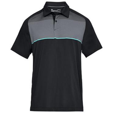 Under Armour Gents Threadborne Infinite Polo Shirt Black