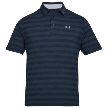 Under Armour Gents Scramble Stripe Polo Shirt Academy
