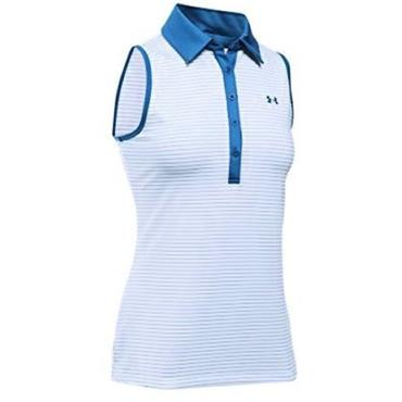 Under Armour Ladies Zinger Sleeveless Polo Shirt Blue