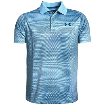 Under Armour Boys Performance Novelty Polo Shirt Blue