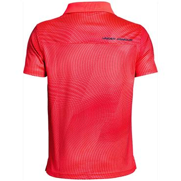 Under Armour Boys Performance Novelty Polo Shirt Red