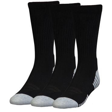 Under Armour Gents HeatGear Tech Crew Socks 3-Pack Black - Graphite