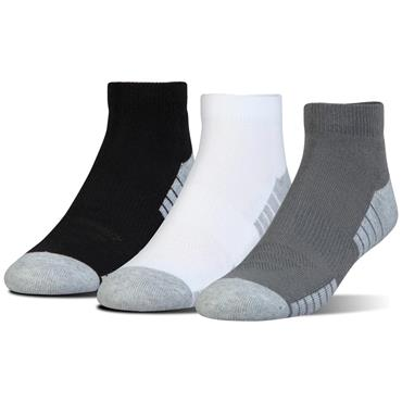 Under Armour Gents Heatgear Low Cut 3 Pack Socks Assorted Colours
