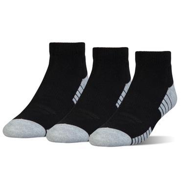 Under Armour Gents Heatgear Low Cut 3 Pack Socks Black