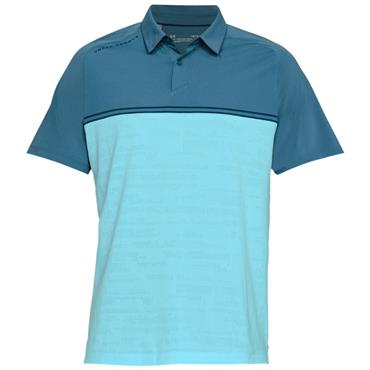 Under Armour Gents Threadborne Calibrate Polo Shirt Blue (414)