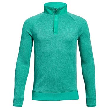 Under Armour Junior - Boys Storm 1/2 Zip Snap Top Green