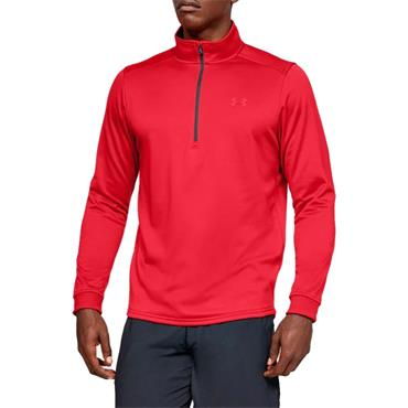 Under Armour Gents Armour Fleece 1/2 Zip Top Red