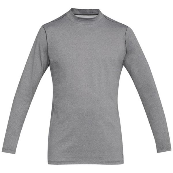 100% quality new appearance more photos Under Armour Gents ColdGear Armour Fitted Mock Grey | Golf Store