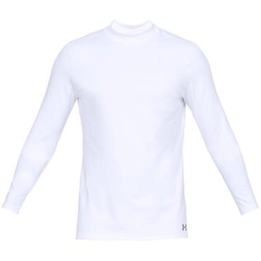 Under Armour Gents ColdGear Armour Fitted Mock White