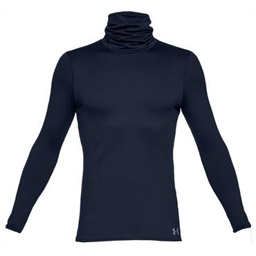 Under Armour Gents ColdGear Fitted Funnel Neck Top Navy