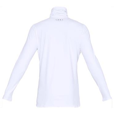Under Armour Gents ColdGear Fitted Funnel Neck Top White