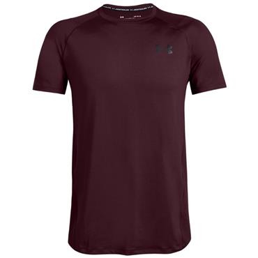 Under Armour Gents MK-1 Short Sleeve T-Shirt Maroon