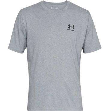 Under Armour Gents Sportstyle Logo T-Shirt Grey 036
