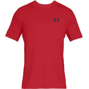 Under Armour Gents Sportstyle Logo T-Shirt Red 600