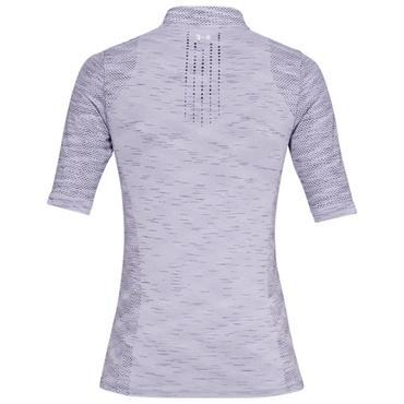 Under Armour Ladies Seamless Zip Polo Shirt Purple