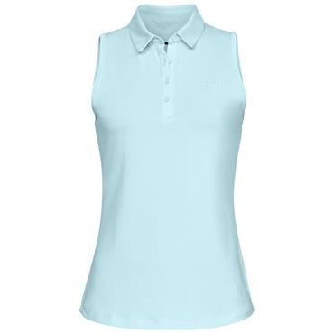 Under Armour Ladies Sleeveless Polo Shirt Teal