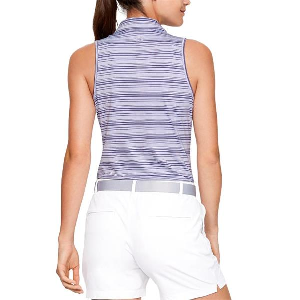 fdc30a4f Under Armour Ladies Zinger Sleeveless Novelty Polo Shirt Purple ...