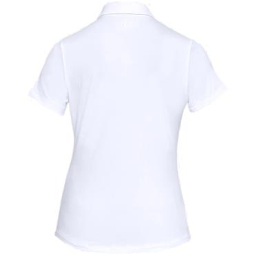 Under Armour Ladies Zinger Sleeveless Novelty Polo Shirt White