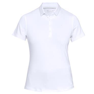 Under Armour Ladies Zinger Sleeveless Novelty Polo Shirt White