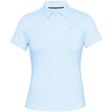 Under Armour Ladies Zinger Sleeveless Novelty Polo Shirt Blue