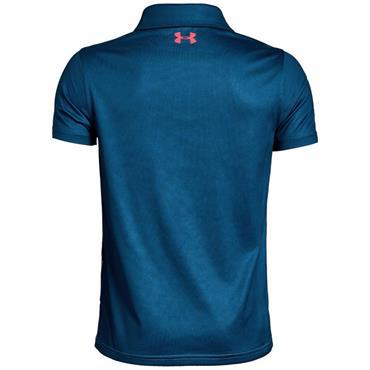 Under Armour Junior-Boys Tour Tips Engineered Polo Shirt Blue