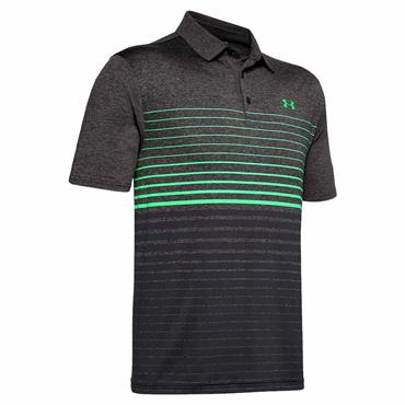 Under Armour Gents Playoff 2.0 Polo Shirt Black - Green 013