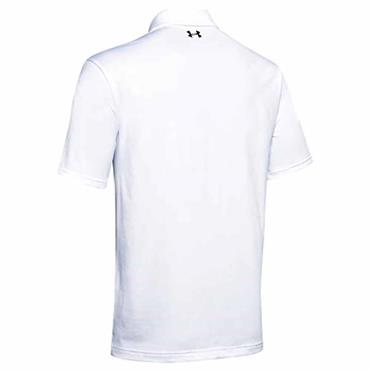 Under Armour Gents Playoff 2.0 Polo Shirt White - Rift Blue 127