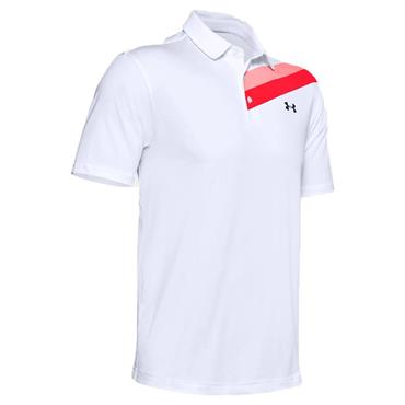 Under Armour Gents Playoff 2.0 Polo Shirt White - Beta 126
