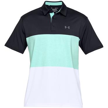 Under Armour Gents Playoff 2.0 Polo Shirt Black - Green
