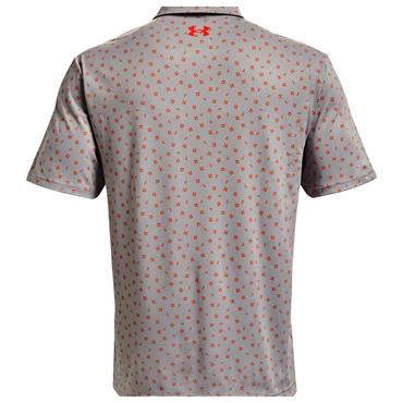 Under Armour Gents Playoff 2.0 Polo Shirt Grey Wolf - Phoenix Fire 034