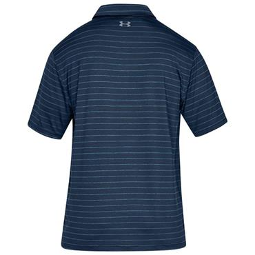 Under Armour Gents Playoff 2.0 Polo Shirt Navy Stripe