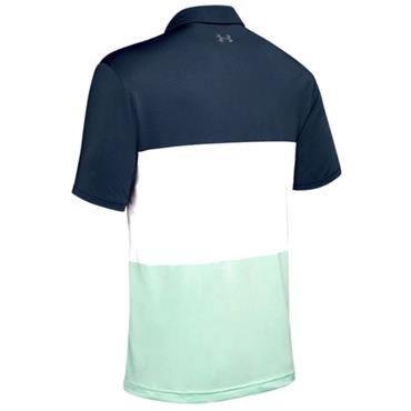Under Armour Gents Playoff 2.0 Polo Shirt Navy - Green