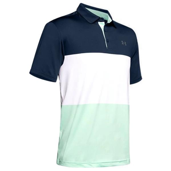 desinfectar cinta Prueba  Under Armour Gents Playoff 2.0 Polo Shirt Navy - Green (412) | Golf Store